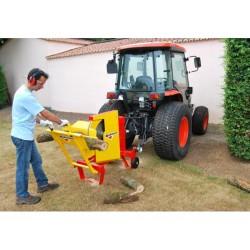 Scie circulaire à chevalet RABAUD entrainement du tracteur